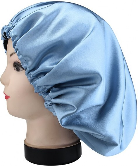 EARTH COMPLETE HAIR CARE PACK (with Sky Blue/Black Satin Bonnet)