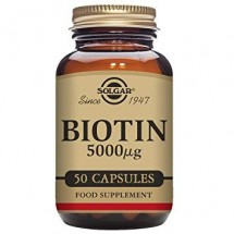 Biotin 5000 µg Vegetable Capsules - Pack of 50