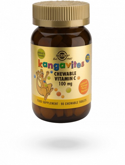 Kangavites Vitamin C Zesty Orange Chewables (90)