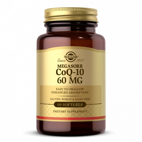CoQ-10 60 mg Vegetable Capsules - Pack of 60