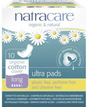 Natracare Organic Cotton Ultra Pads With Wings (10) - Long