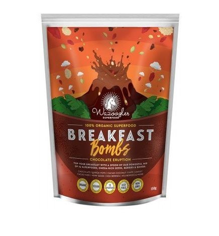 Wazoogles Superfoods Breakfast Bomb Chocolate Eruption 150g