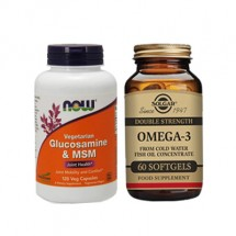 Joint Health Combo( Solgar Omega 3 & Now Glucosamine and MSM)