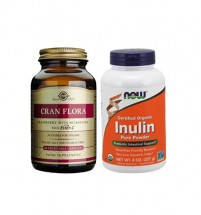 Gut Support Combo( Solgar  Probiotic  &  Now foods Inulin Pure Powdwer)
