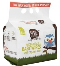 Baby Biodegradable Wipes 192's With Organic Aloe