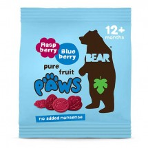Bear Paws Raspberry and Blueberry - 20g