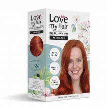 Flame Red -  100% Herbal hair dye - 100g