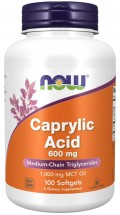 Caprylic Acid 600 mg- 100 Softgels