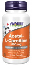 Acetyl-L-Carnitine 500 mg - 50 Vegetable Capsules