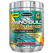 Amino Build Next Gen Energized Fruit Punch Splash (Caffeine)- 284g