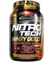Nitro Tech 100% Whey Gold Chocolate - 2.2lbs