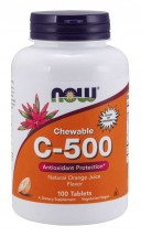 Vitamin C-500 Orange Chewable - 100 Tablets
