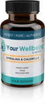 Spirulina & Chlorella 600mg - 60 Vegetable Capsules
