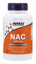 N-acetyl cysteine NAC - 600mg -100 Vegetable Capsules